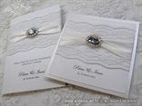 white wedding nvitation and thank you card