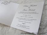 pozivnica za vjencanje bijela sa cipkom i brosem