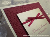 Pozivnica za vjenčanje Trendy Crvena mašna