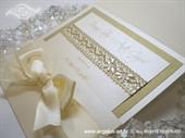 Pozivnica za vjenčanje Uhvaćeni u mreži - gold