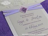 Pozivnica za vjenčanje Simplicity Lilac Rose 2