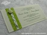 pozivnica za vjenčanje natur zelena sa sisalom i pausom