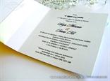 wedding invitation peach stylish bow