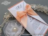 lovely peach wedding invitation