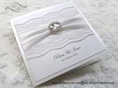 Wedding invitation - Stylish White Lace