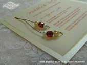 Pozivnica za vjenčanje Crvene perle - Transparent