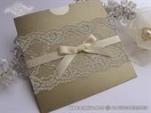 Wedding invitation - Gold Charm Lace