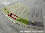 pozivnica za vjenčanje sa sisalom varijante boja