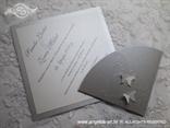 pozivnica za vjenčanje srebrna s leptirima i blindruckom