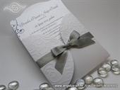 Wedding invitation - Silver Bow Mini Beauty