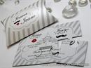 Wedding invitation - Small Puzzle . Mustache