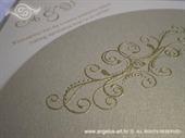 Pozivnica za vjenčanje Diamond Gold Swirl