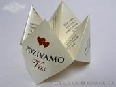 Wedding invitation - Origami Fortune Teller