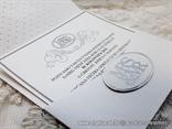 wedding invitation silver white  MR&MRS