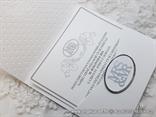 wedding invitation silver white MRS&MR MR&MRS