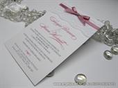 Wedding invitation - Rose Lace Line