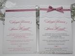 pozivnice sa cipkom i masnom roza boje