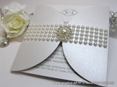 Wedding invitation - White Pearl Diva