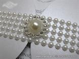 luxury wedding invitation with pearls