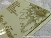 Pozivnica za vjenčanje Plexy pozivnica - Cvijet