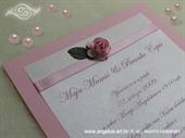 Pozivnica za krštenje - Pink Rose Fairy Tale