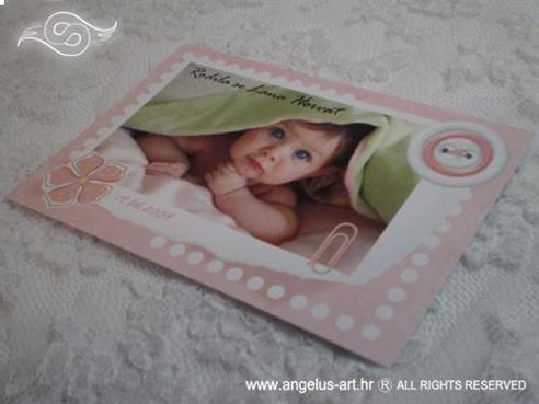 Baby roza razglednica