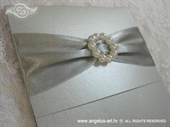Pozivnica za vjenčanje Silver Elegance
