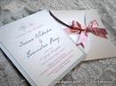 Wedding invitation - Silver & Pink Mini Beauty