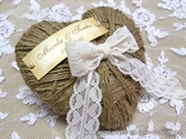 Pad for wedding rings - Vintage Heart