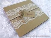 Wedding invitation-Vintage Lace Glorius 1