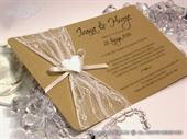 Wedding invitation - Vintage Heart Harmony