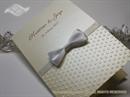 Zahvalnica za vjenčanje - Cream Dots & Bow