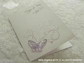 Zahvalnica za vjenčanje Leptirov let - lila