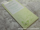 Wedding invitation - Destiny Green Butterfly