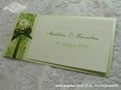 Pozivnica za vjenčanje Vintage Green Flower