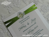Pozivnica za vjenčanje Simplicity Green Rose