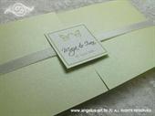 Pozivnica za vjenčanje Dva leptira Window Line