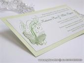 Pozivnica za vjenčanje Leptirov let - zelena