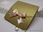 Wedding invitation - Peach Gold Classic