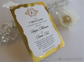 Wedding invitation - Vintage Gold Line