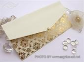 Pozivnica za vjenčanje Cream Gold Letter