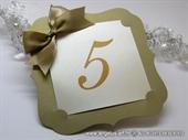 Broj stola za svadbenu večeru - Golden Frame