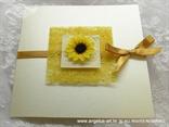 žuta pozivnica za vjenčanje sa suncokretom